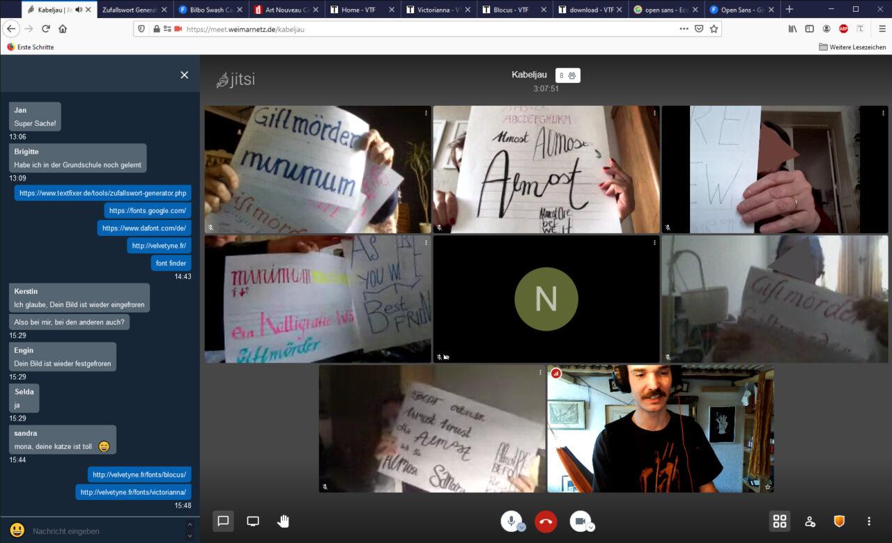 Ein Screenshot von den ersten Ergebnissen der Teilnehmerinnen und Teilnehmer im Workshop